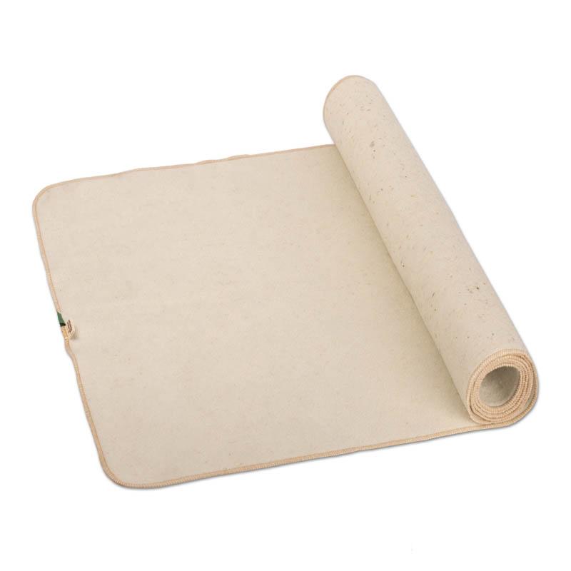 Коврик-лежак для бани и сауны 110*55 см. белый, шерсть 100%