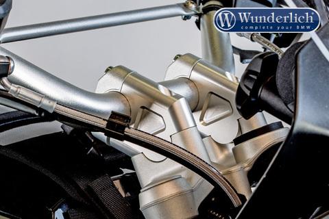 Проставки руля 40 мм со смещением BMW R1200GS/GSA серебро