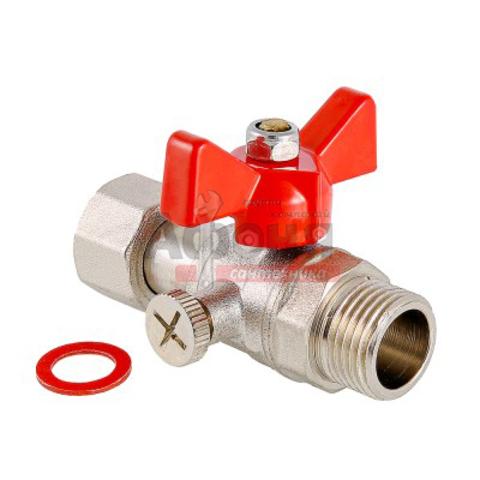 Кран шаровой VALTEC для подключения манометра 1/2 ш/г (VT.806.N.0404)