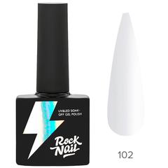 Гель-лак RockNail Basic 102 Ultra White, 10мл.