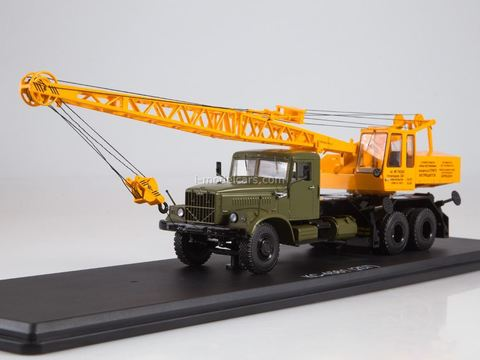 KRAZ-257 Truck crane KS-4561 khaki-yellow 1:43 Start Scale Models (SSM)