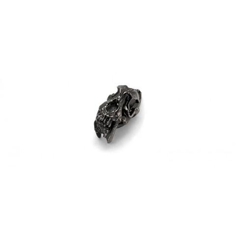 Бусина для темляка Саблезубый череп, серый