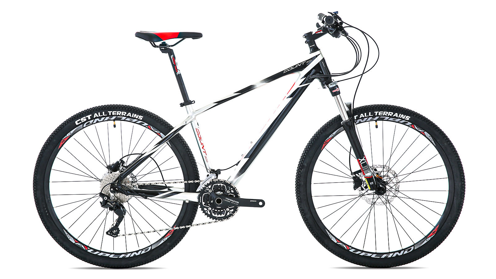 Горный велосипед Upland COUNT 300 черно-серый