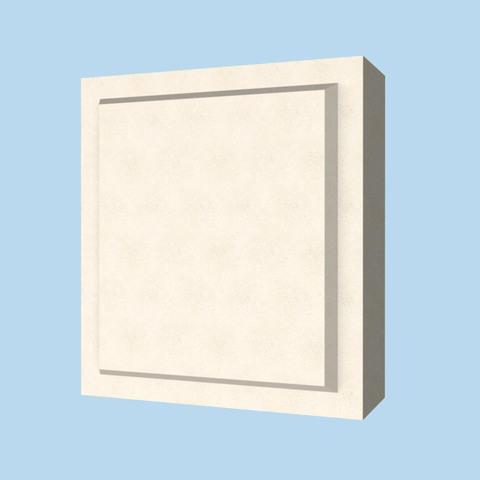 Элемент декора квадрат из пенопласта с покрытием