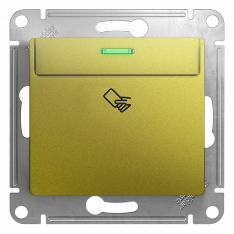 Карточный выключатель. Цвет Фисташковый. Schneider Electric Glossa. GSL001069