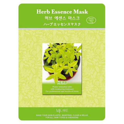 Маска тканевая с лечебными травами Mijin Care Herb Essence Mask