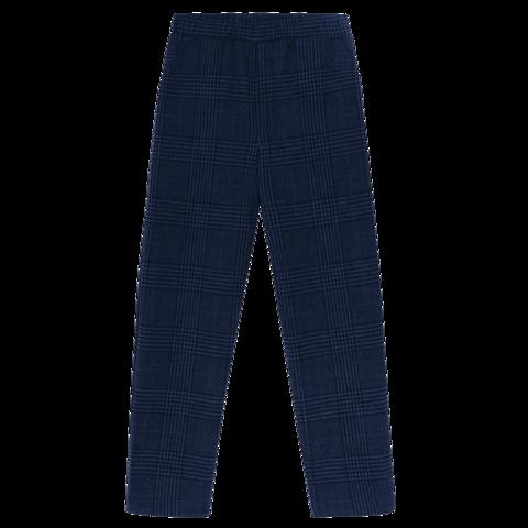 Шерстяные брюки в синюю клетку