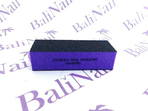 Бафик черн/фиолет 3х сторонний, 100/60/60 grit