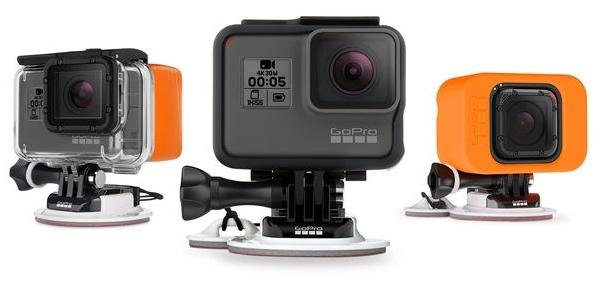 Крепление на доску для серфинга/вейка GoPro Surf Mounts (ASURF-001) с разными камерами GoPro