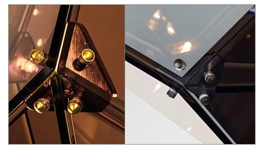 Подвесной светильник копия Maxhedron Vertical by Bec Brittain (дымчатый)