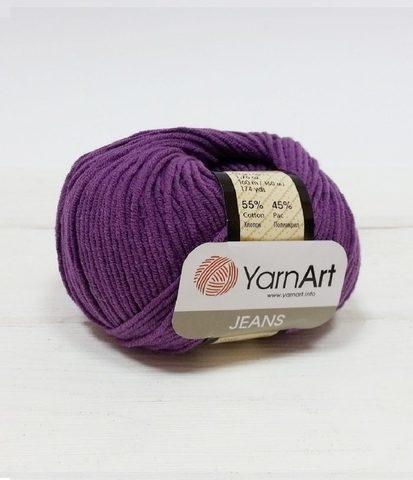 Пряжа YarnArt JEANS - (50-фиолетовый)