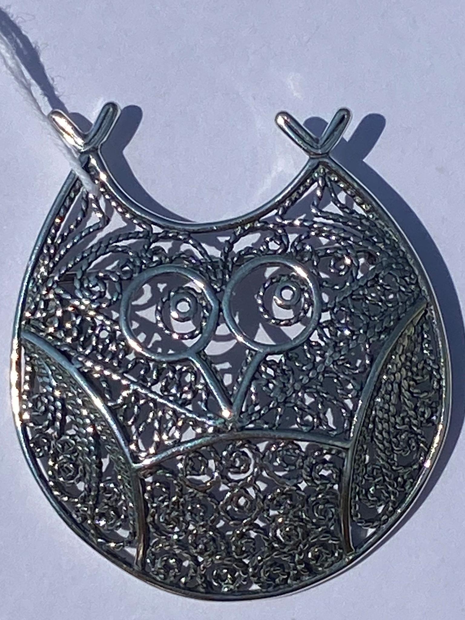 Совунья (серебряная брошь)