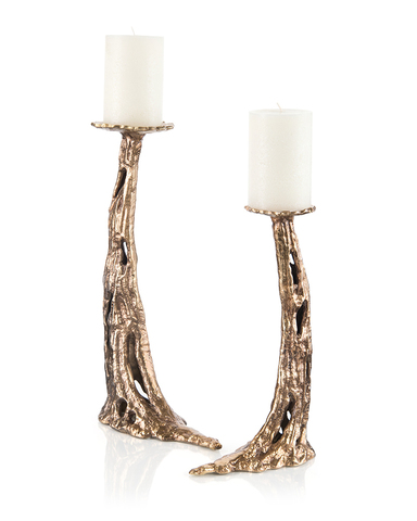 Set of Two Carlton Candleholders