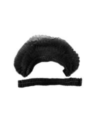 Шапочка-шарлотка одноразовая (Спанбонд (15 г/м), черный, 50 шт/упк, штучно)