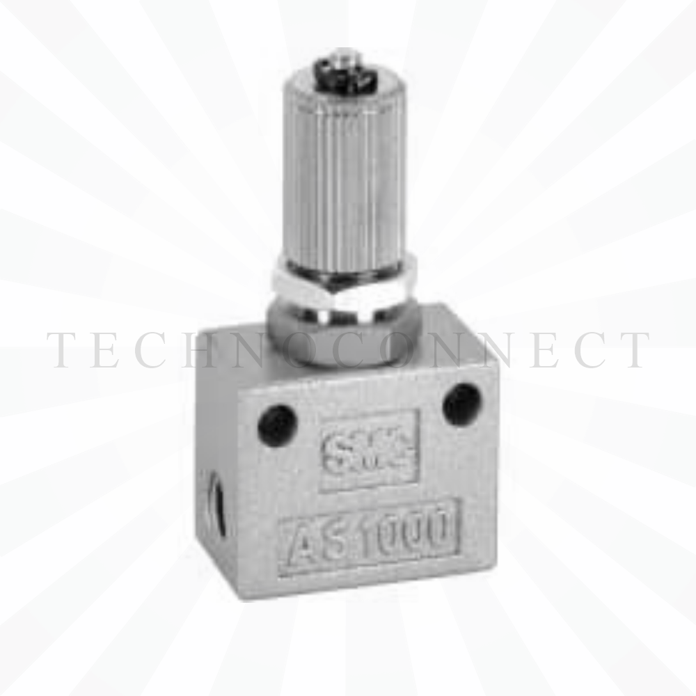 AS1000-M5  Дроссель с обратным клапаном, М5х0.8