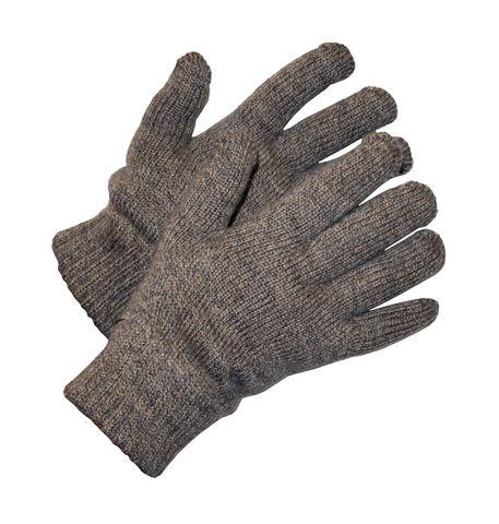 Перчатки утепленные двойные трикотажные полушерстяные «Январь»