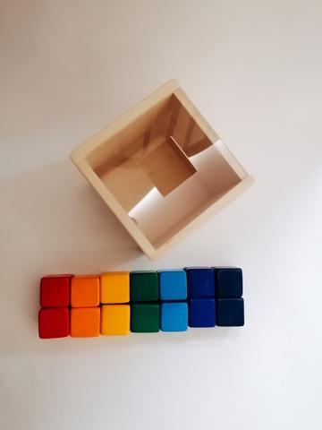 Сортер Кубики радужные