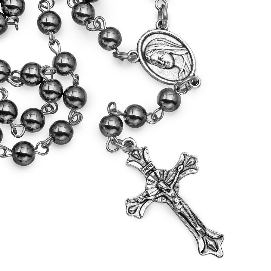 Мужские бусы розарий с крестом Hoger HG000797