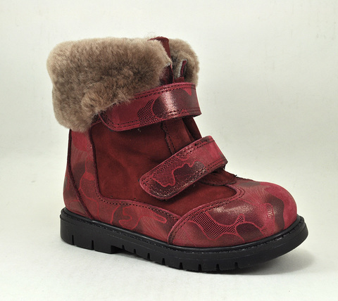 Зимние ботинки Panda арт. 1681-BORDO