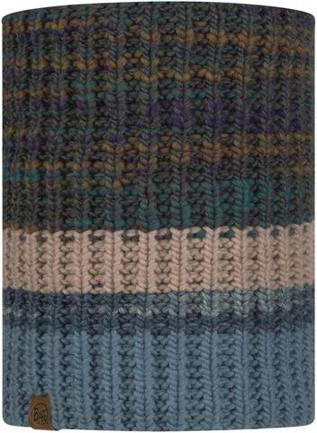 Вязаный шарф-труба с флисом Buff Neckwarmer Knitted Polar Alina Blue фото 1