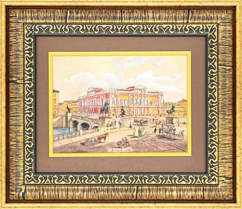 №6 «Аничков мост» Гравюра