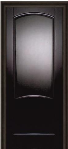 Дверь Луидор Криста Лайт, цвет чёрный дуб тонированный, глухая