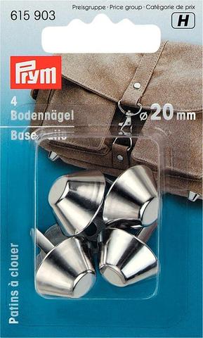 Ножки для дна сумки 20мм 4шт серебристые (Арт. 615903)