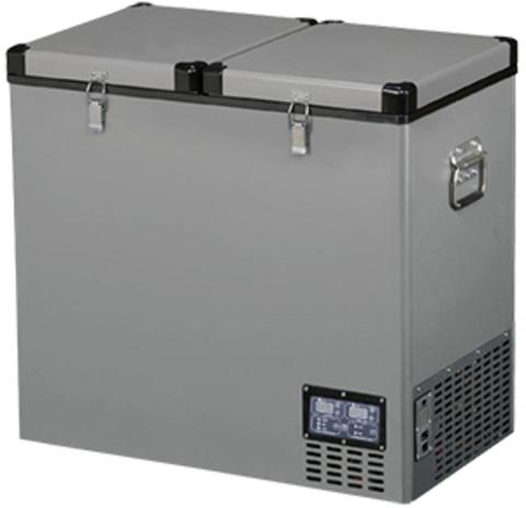 Компрессорный автохолодильник Indel-B TB118DD Steel (Двухкамерный, 12V/24V/220V, 118л)