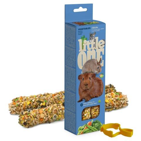 Little One палочки для морских свинок, кроликов и шиншилл с овощами 2шт*60 г