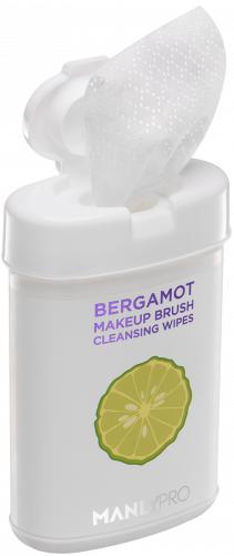 MANLY PRO очищающие салфетки для кистей c маслом бергамота 50шт