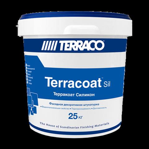 Terraco Terracoat Granule Silicone/Террако Терракоат Гранул Силикон декоративное покрытие на силиконовой основе со сглаженной текстурой типа «шуба»