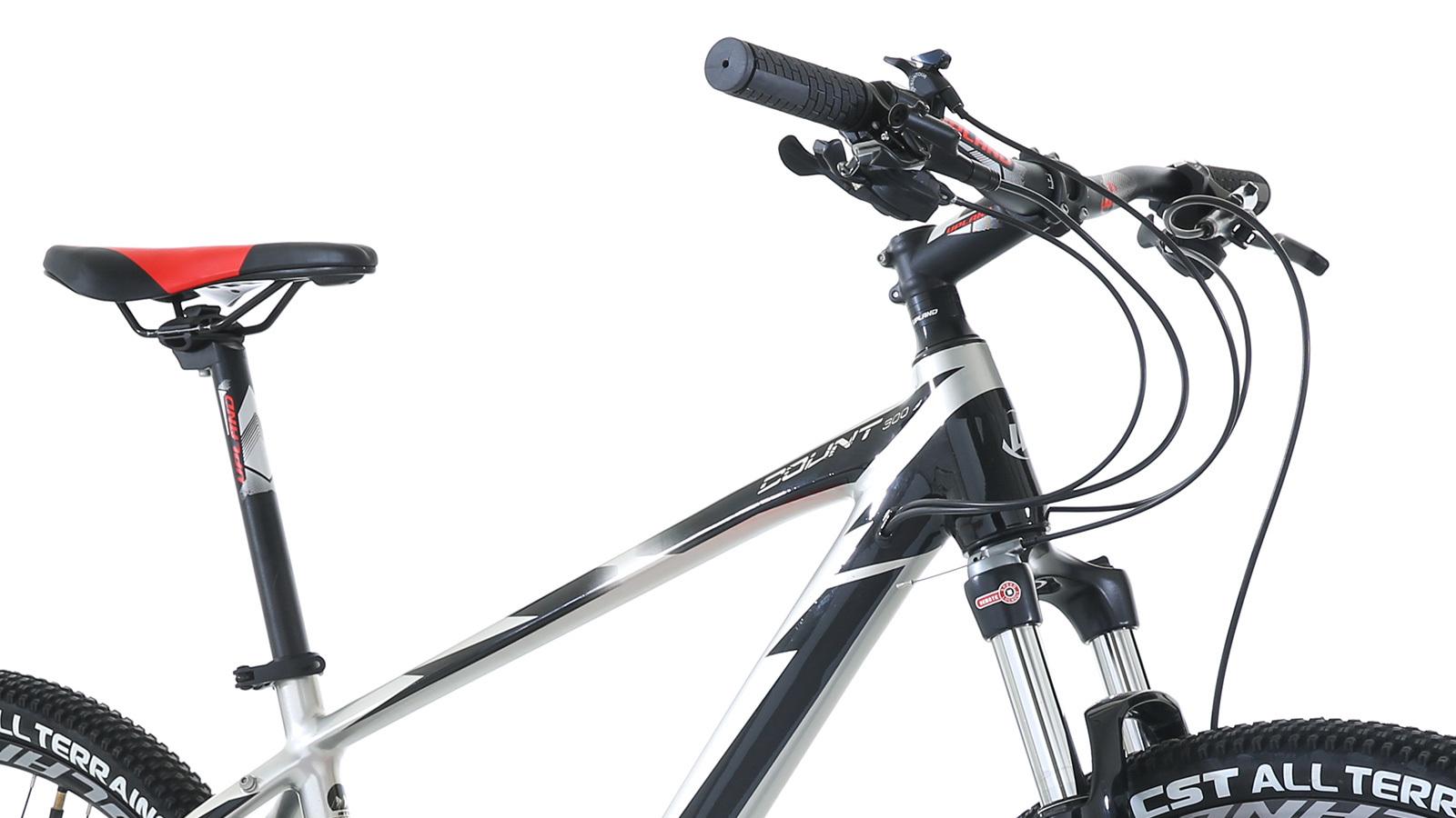 рама, руль и вилка горного велосипеда