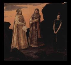 """Репродукция """"Васнецов - Три царевны подземного царства"""""""