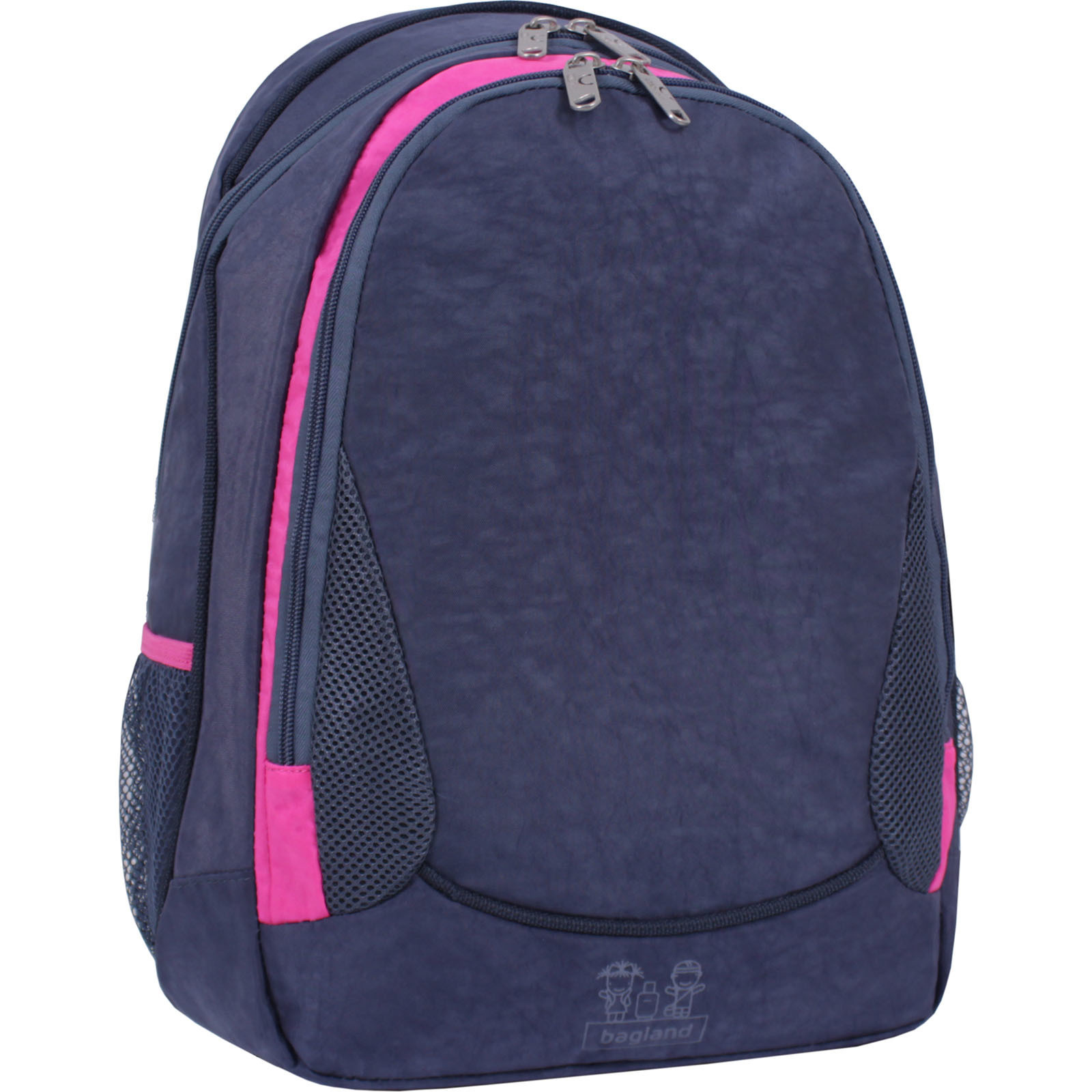 Женские рюкзаки Рюкзак Bagland Ураган 20 л. Серый/розовый (0057470) IMG_8930.JPG