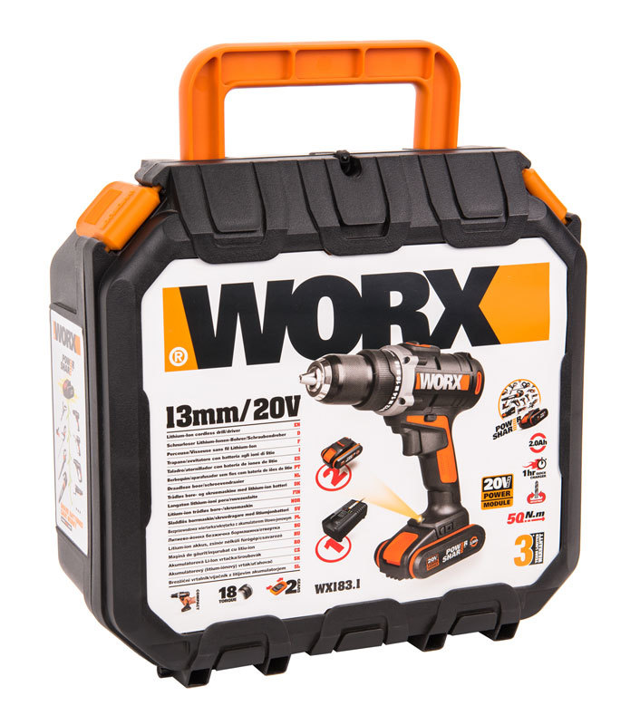 Дрель-шуруповерт аккумуляторная WORX WX183.1 20В