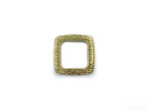 Квадрат желтое золото 25 мм (пластик)