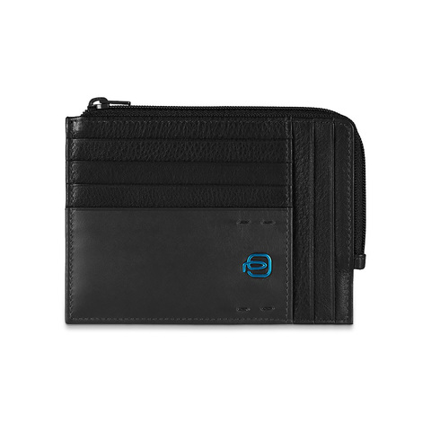 Чехол для кредитных карт Piquadro Pulse, черный, 12х9х1 см