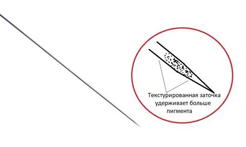 Текстурированная игла 1R 0,25мм (50 штук)