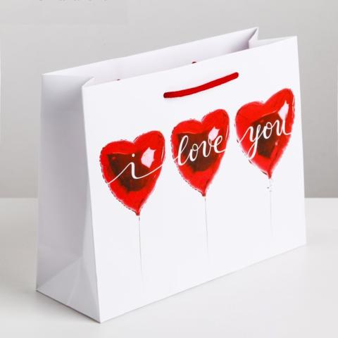 Пакет ламинированный горизонтальный «Любовь повсюду», 23 × 27 × 8 см
