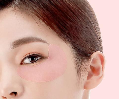 Осветляющие тканевые патчи для глаз с витаминным комплексом Petitfee Pink Vita Brightening Eye Mask