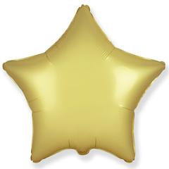 Шар звезда сатин золото