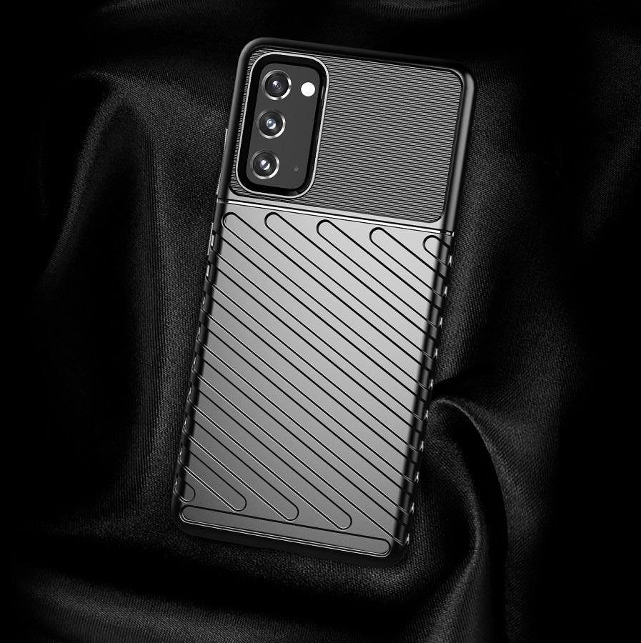 Черный противоударный чехол на Samsung Galaxy S20 FE (Fan Edition), серия Onyx от Caseport