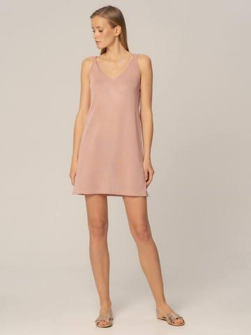 Женское платье цвета нюд из вискозы - фото 2