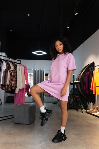 Платье прямое из хлопка Nadya