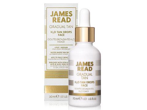 JAMES READ Капли-концентрат освежающее сияние H2O TAN DROPS FACE, 30 мл