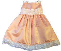 Нарядное платье для девочки (персиковое)