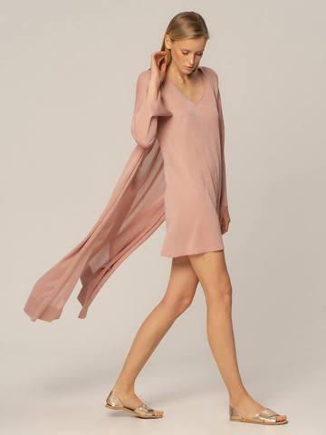 Женское платье цвета нюд из вискозы - фото 4