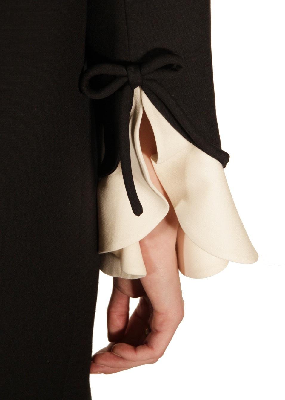 Платье из шерсти и шелка VALENTINO