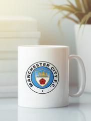 Кружка с изображением FC Manchester City (ФК Манчестер Сити) белая 003