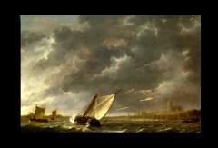 """Репродукция """" Альберт Кейп - Маас в Дордрехте в шторм"""""""